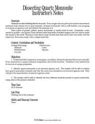 Dissecting Quartz Monzonite PDF