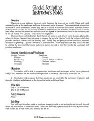 Glacial Sculpting PDF