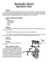 Marshmallow Shooter PDF