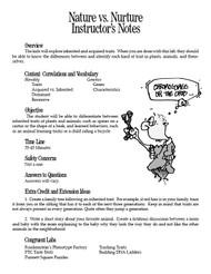 Nature vs. Nurture PDF