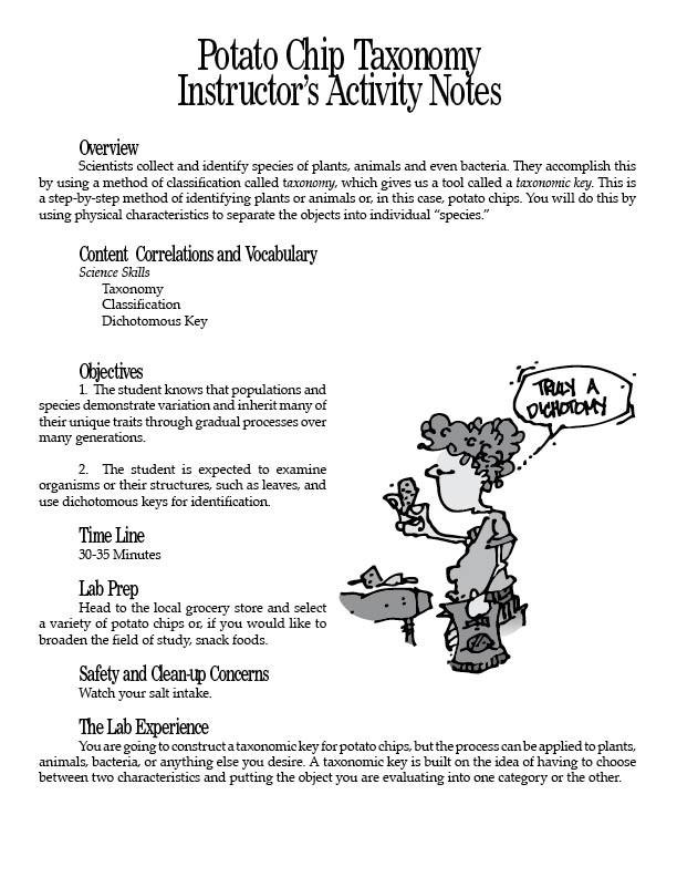 Potato Chip Taxonomy PDF
