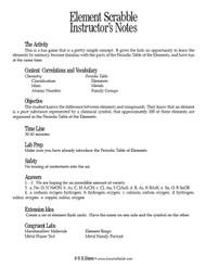 Element Scrabble PDF