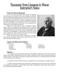 Taxonomy from Linnaeus to Woese PDF