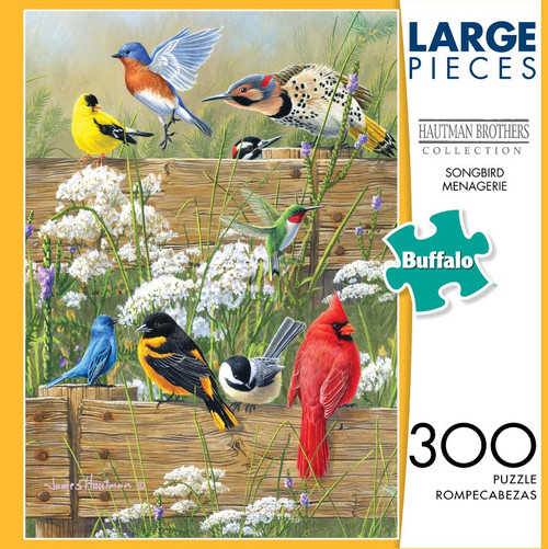 Hautman Brothers Songbird Menagerie 300 Large Piece Jigsaw Puzzle Box