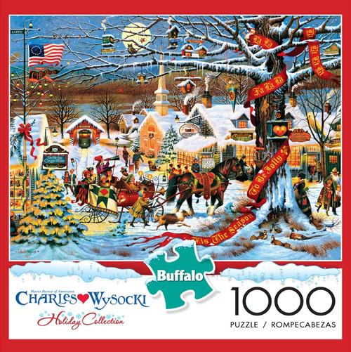 Charles Wysocki Small Town Christmas 1000 Piece Jigsaw Puzzle Box