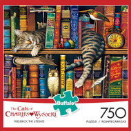 The Cats of Charles Wysocki: Frederick the Literate 750 Piece Jigsaw Puzzle Box