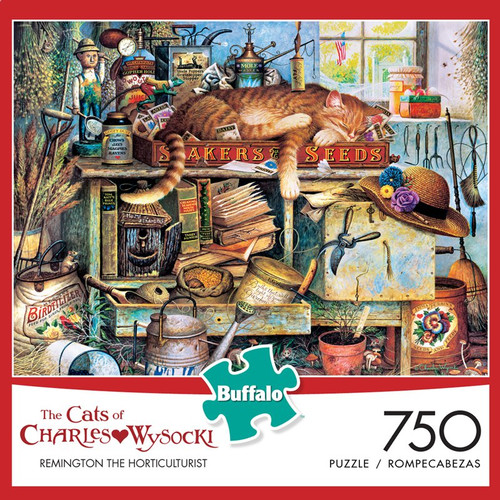 The Cats of Charles Wysocki: Remington the Horticulturist 750 Piece Jigsaw Puzzle Box