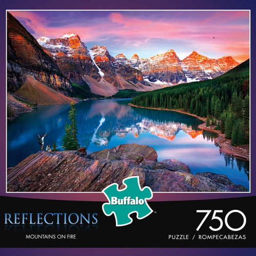 Reflections Mountains On Fire 750 Piece Jigsaw Puzzle Box