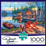 Darrell Bush Loon Lake 1000 Piece Jigsaw Puzzle Box