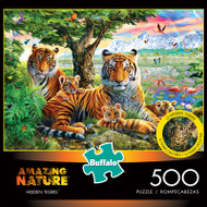 Amazing Nature Hidden Tigers 500 Piece Jigsaw Puzzle Box