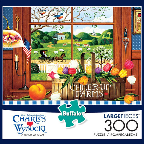 Charles Wysocki A Peach of a Day 300 Large Piece Jigsaw Puzzle Box