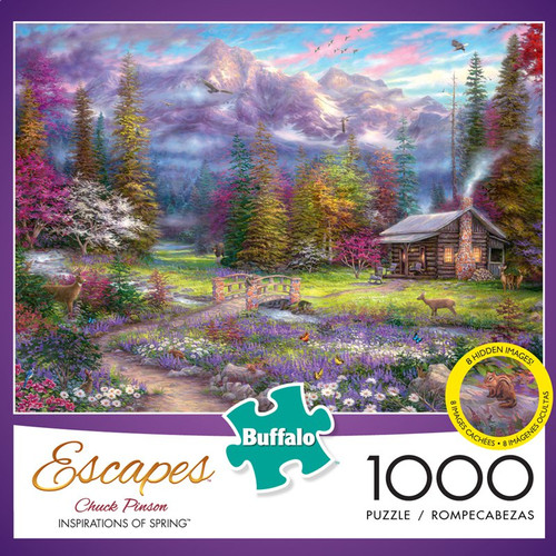 Chuck Pinson Escapes Inspirations of Spring 1000 Piece Jigsaw Puzzle Box