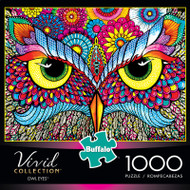 Vivid Owl Eyes 1000 Piece Jigsaw Puzzle Box