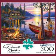 Darrell Bush Canoe Lake 300 Large Piece Jigsaw Puzzle Box