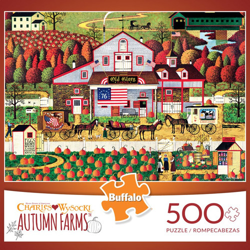 Charles Wysocki Autumn Farms 500 Piece Jigsaw Puzzle Box