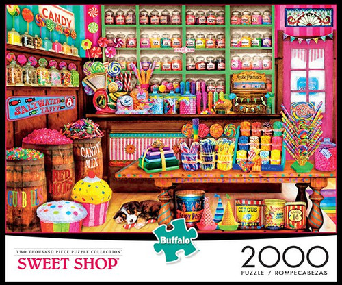 Aimee Stewart Sweet Shop 2000 Piece Jigsaw Puzzle Box