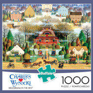 Charles Wysocki Melodrama In the Mist 1000 Piece Jigsaw Puzzle Box