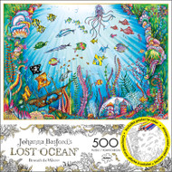Johanna Basford's Lost Ocean Beneath the Waves 500 Piece Jigsaw Puzzle Box