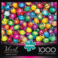 Vivid Ladybug Central 1000 Piece Jigsaw Puzzle Box