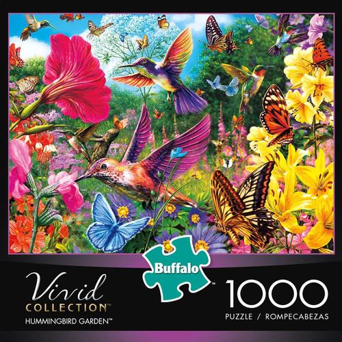 Vivid Hummingbird Garden 1000 Piece Jigsaw Puzzle Box