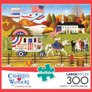 Charles Wysocki So Proudly We Hail 300 Large Piece Jigsaw Puzzle Box