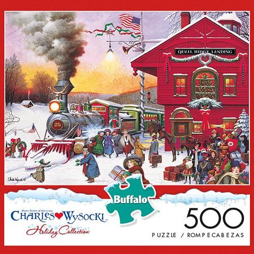 Charles Wysocki Whistle Stop Christmas 500 Piece Jigsaw Puzzle Box