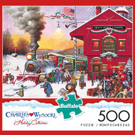 Charles Wysocki Whistle Stop Christmas 500 Piece Jigsaw Puzzle Box