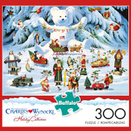 Charles Wysocki Jingle Bell Teddy & Friends 300 Large Piece Jigsaw Puzzle Box