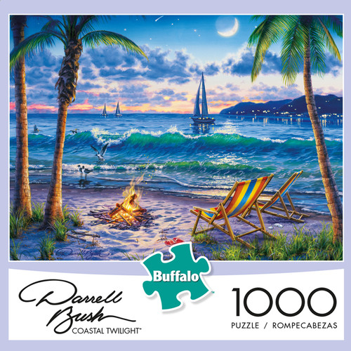 Darrell Bush Coastal Twilight 1000 Piece Jigsaw Puzzle Box