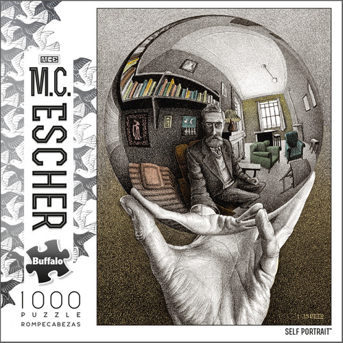 M.C. Escher Self Portrait 1000 Piece Jigsaw Puzzle Box