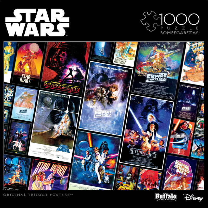 Star Wars Original Trilogy Posters 1000 Piece Jigsaw Puzzle Buffalo Games