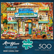 Aimee Stewart Americana Collection Brown's General Store 500 Piece Jigsaw Puzzle Box
