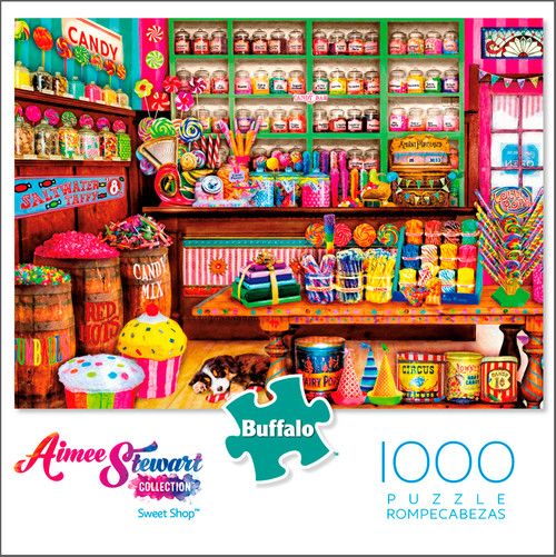 Aimee Stewart Collection Sweet Shop 1000 Piece Jigsaw Puzzle Box