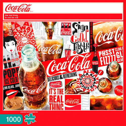 Coca-Cola The Real Thing 1000 Piece Jigsaw Puzzle Box