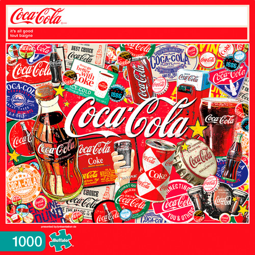 Coca-Cola It's All Good 1000 Piece Jigsaw Puzzle Box