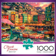 Chuck Pinson Escapes Vibrant Italy 1000 Piece Jigsaw Puzzle Box