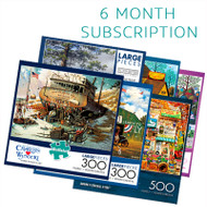 300/500 Piece 6 Month Jigsaw Puzzle Subscription