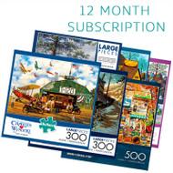 300/500 Piece 12 Month Jigsaw Puzzle Subscription