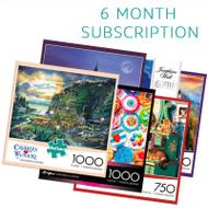 750/1000 Piece 6 Month Jigsaw Puzzle Subscription