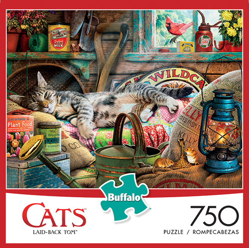 Cats Laid-Back Tom 750 Piece Jigsaw Puzzle Box