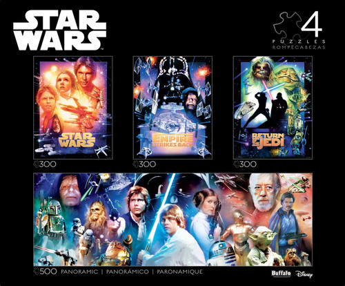 Star Wars™ Collector's Edition 4-in-1 Jigsaw Puzzle Multipack Box