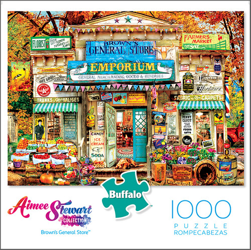 Aimee Stewart Brown's General Store 1000 Piece Jigsaw Puzzle Box