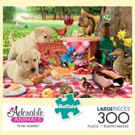 Adorable Animals Picnic Raiders 300 Large Piece Jigsaw Puzzle Box