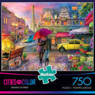 Cities in Color Raining in Paris 750 Piece Jigsaw Puzzle Box