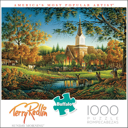 Terry Redlin Sunday Morning 1000 Piece Jigsaw Puzzle Box