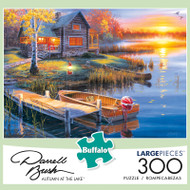 Darrell Bush Autumn At The Lake 300 Large Piece Jigsaw Puzzle Box