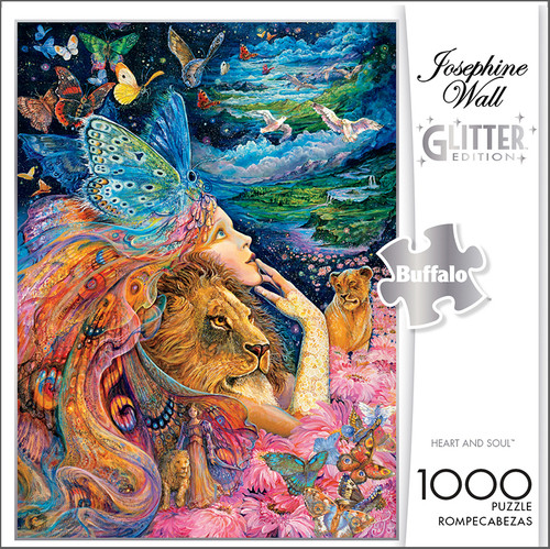 Josephine Wall Heart and Soul Glitter Edition 1000 Piece Jigsaw Puzzle Box