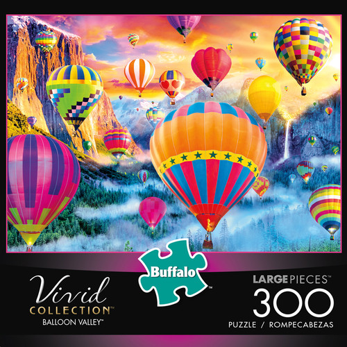 Vivid Balloon Valley 300 Large Piece Jigsaw Puzzle Box