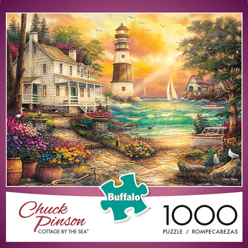 Chuck Pinson Cottage by the Sea 1000 Piece Jigsaw Puzzle Box