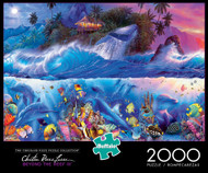 Christian Riese Lassen Beyond The Reef III 2000 Piece Jigsaw Puzzle Box